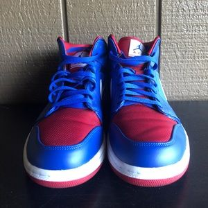 best service e5964 aef53 Nike Shoes - Air Jordan 1 Mid Rivalry Pack Detroit Pistons 12.5